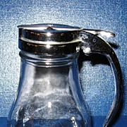 Dripcut Glass Syrup Dispenser with Chrome Lid