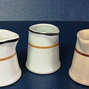 Collection of 3 Individual Restaurant Ware Creamers