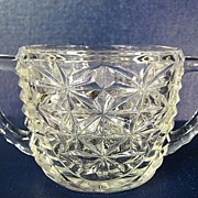 Anchor Hocking Stars & Bars Sugar Bowl