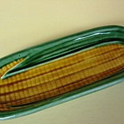 Bordallo Pinheiro Portugal Pottery Corn Holder Dish