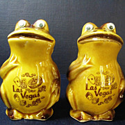 Frog Salt, Pepper Shakers Las Vegas Souvenir