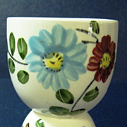 Red and Blue Floral Design Double Egg Cup