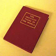 Miniature Book The Greatest Thing in the World