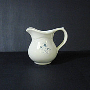 Pfaltzgraff White with Blue Roses Creamer