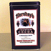 Hershey's Fountain Cocoa Advertising Tin