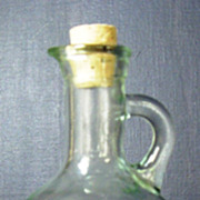 Light Green Cruet Oil Decanter Bottle