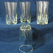 Set of Four Federal Park Avenue Juice Glasses