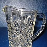 Anchor Hocking Prescut Clear Glass Pineapple Pitcher