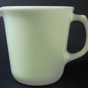 Pyrex White Creamer Syrup Pitcher