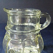 Clear Glass Creamer Syrup Pitcher