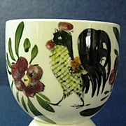 Provincial Rooster and Flower Design Double Egg Cup