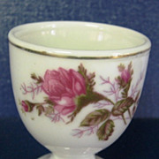 Mid Century Moss Rose Floral Design Egg Cup