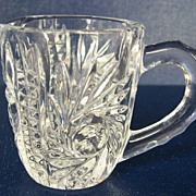 Miniature Pressed Glass Crystal Pitcher