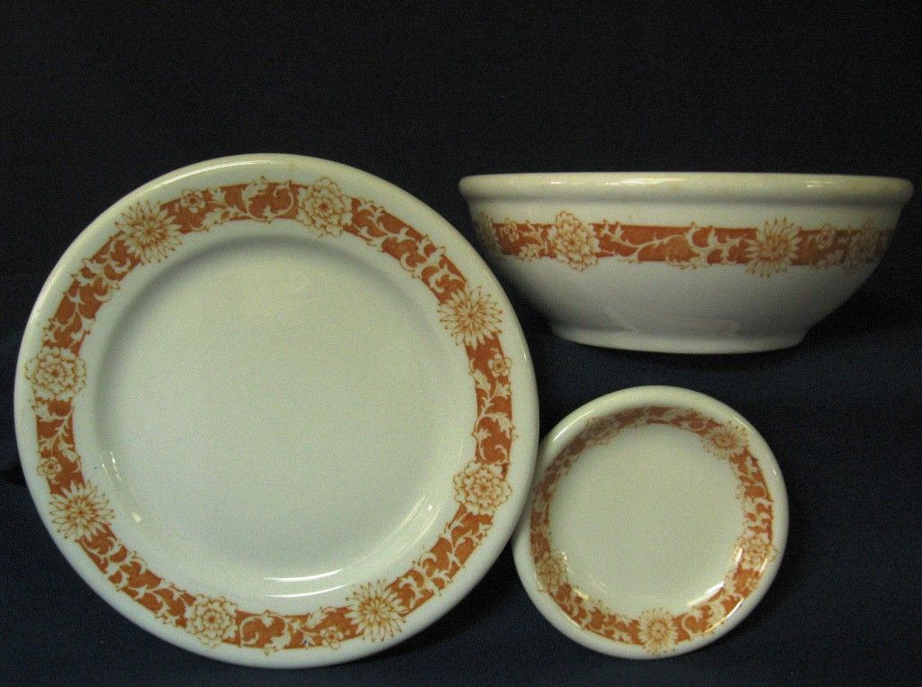 Syracuse Restaurant Ware China Bowl, Small Plate & Butter Pat