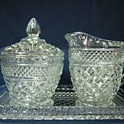 Four Piece Set Wexford Creamer, Covered Sugar and Tray