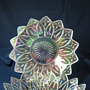 Federal Glass Iridescent Bowl and Plate
