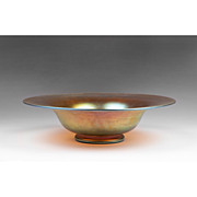 Steuben Gold Aurene Large Center Bowl