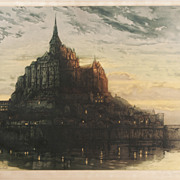Colored Etching, Aquatint by Auguste Brouet