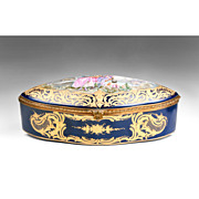 Late 19th/20th C. Bourdois & Bloch Sevres Style Jewelry Casket