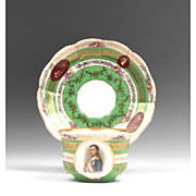 Austrian Porcelain Cup & Saucer With Napoleon Portrait