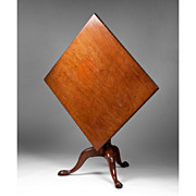 19th Century Walnut Tilt Top Table Square Shape