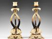 Pr. of Rudolstadt Porcelain Figural Elephant Head Candlesticks