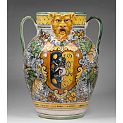 Leona Ceramica Two Handled Jug with Lion Mask Spout