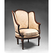 19th C. French Louis XVI Berg�re Armchair