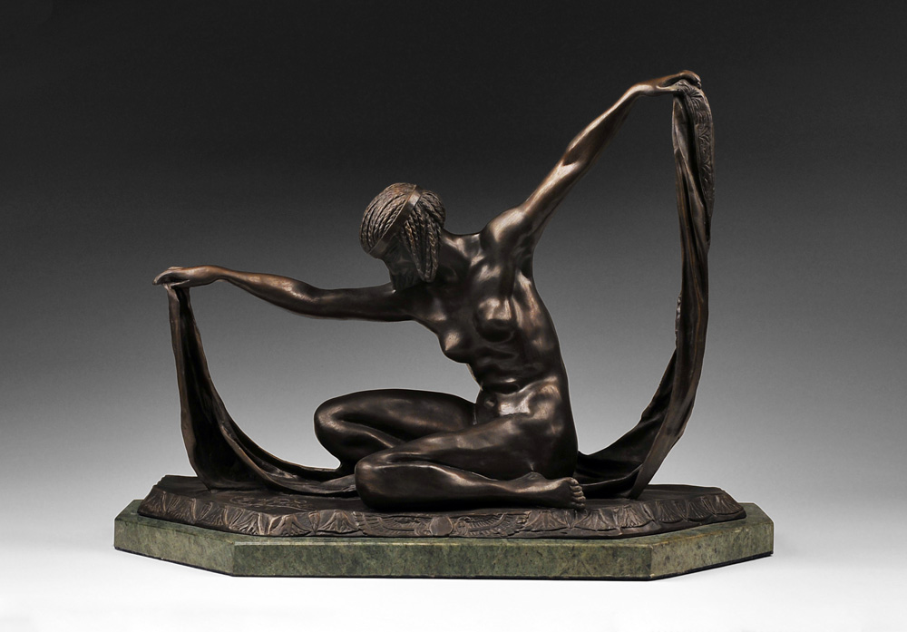 Isis Bronze Sculpture After Claire Jeanne Roberte Colinet