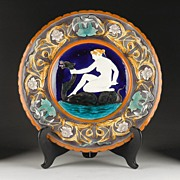 Wedgwood Charger, Leda And The Swan, 1872