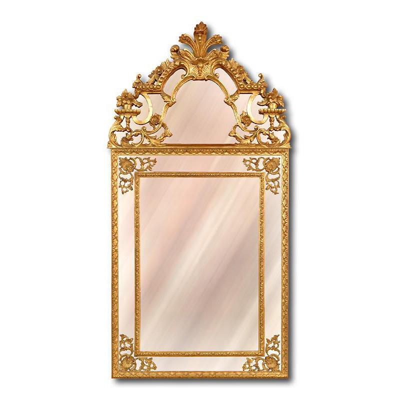 Italian Carved Regenc� Style Giltwood Mirror with Panels