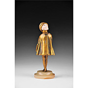 Chryselephantine Sculpture of Girl by Demetre Chiparus, 1920�s