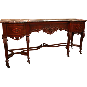 Northern Italian Marble Top Sideboard