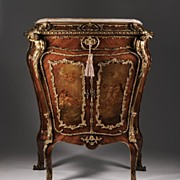 19th C. Louis XV Kingwood Side Cabinet Fitted With Bronze Mounts