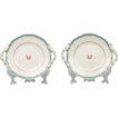 Pair of 19th C. English Dessert Dishes With Imperial Symbol