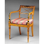 Adams Style Painted Armchair