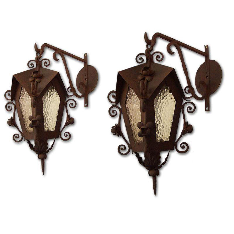 Vintage Wrought Iron Lanterns