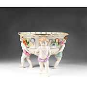 Von Schierholz Reticulated Cherub Center Bowl / Compote