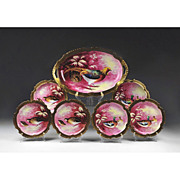 Coronet Limoges Game Bird Set With Large Platter