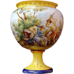 Italian Tin Glazed Majolica Bolted Jardiniere on Stand