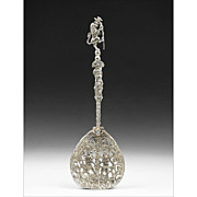 Italian Silver Cut Work Serving Spoon