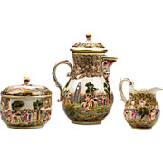 German Porcelain Rudolstadt Capodimonte Style Tea Set