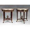 Pair of French Empire Bronze Mounted Side Tables
