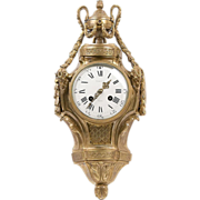 Tiffany & Co., French Louis XVI Bronze Wall Clock