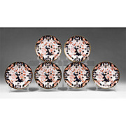 Set of Six Royal Crown Derby Kings Pattern Dessert Plates