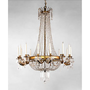 French Regency Style 14 Light Ormolu And Crystal Chandelier