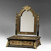 Early 19th Century Boulle Shaving Stand and Mirror