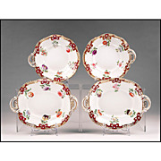 Set of Four Early 19th C. English Garniture Dessert Comportes or Compotes
