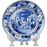 Dr. Syntax Transferware Staffordshire Clews Plate