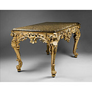 Mid 19th Century Hand Carved Italian Rococo Center Table
